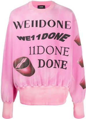 we11done Oversized Graphic Print Jumper