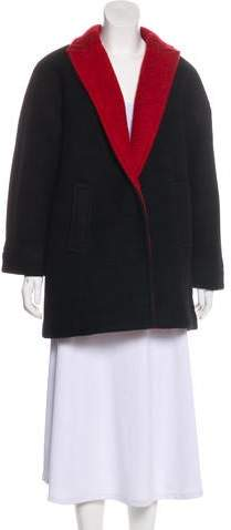 Alice + Olivia Notch-Lapel Short Coat
