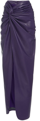 Sally LaPointe Stretch Faux Leather Long Twist Sarong