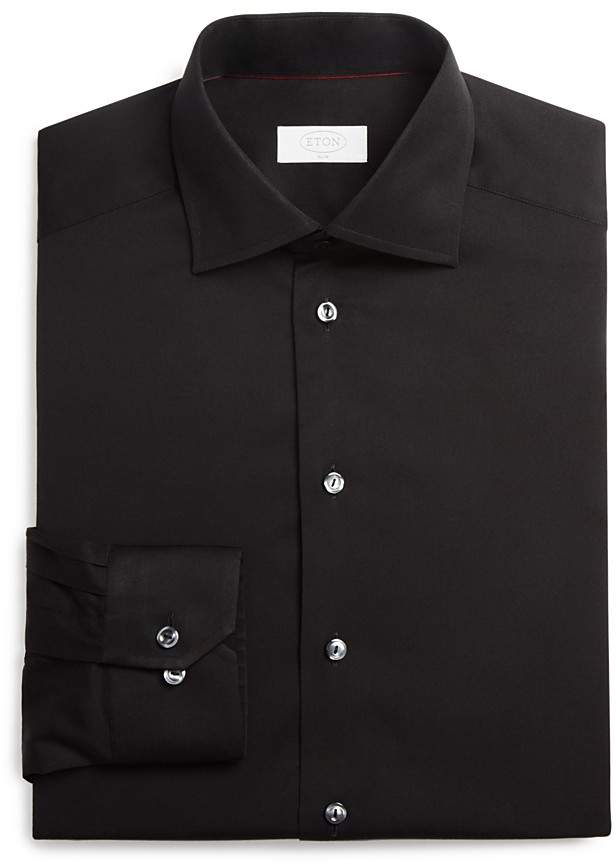 Eton of Sweden Signature Twill Solid Slim Fit Dress Shirt