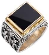 Konstantino Men's 'Minos' Side Cross Ring