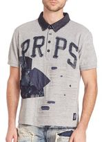 PRPS Jabo Denim Patched Polo Shirt