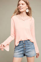 Cloth & Stone Strappy V-Neck Blouse