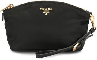 Prada Pre-Owned Logo Plaque Cosmetic Bag