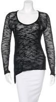 Helmut Lang Crochet Asymmetrical Sweater