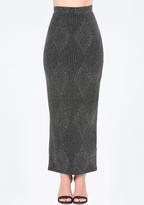 Bebe Glitter Maxi Skirt