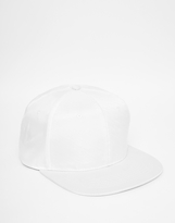 Asos Snapback Cap In White With Mesh - White