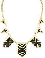 House Of Harlow Classic Caged Leather Station Necklace