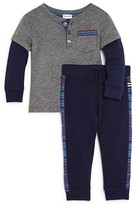Splendid Infant Boys' Layered Look Henley Top & Jogger Pants Set - Sizes 6-24 Months