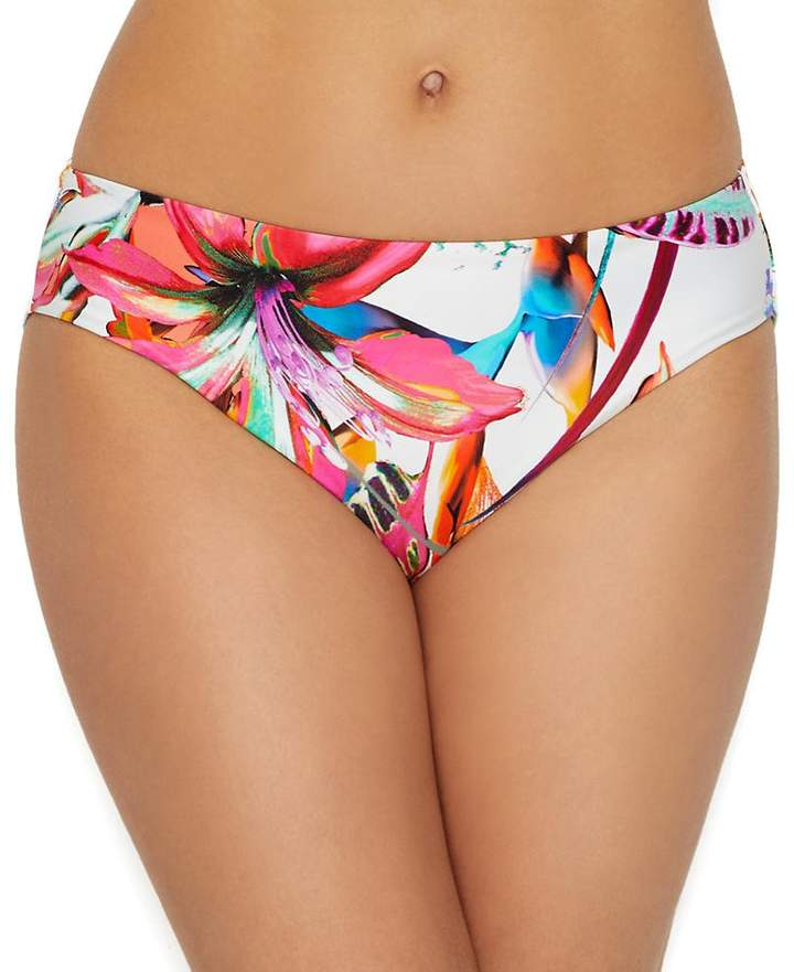 Fantasie Paradise Bay Mid-Rise Bikini Bottom, L, Floral
