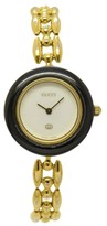Gucci 11/12 Gold Plated Bezel Changes Color 26mm Women Watch