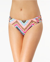 California Waves Under the Sun Printed Strappy Bikini Bottoms