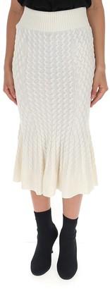 Alexander McQueen Flared Midi Skirt