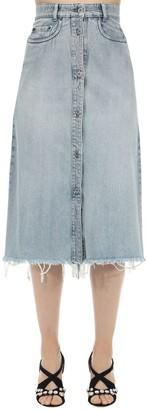 Miu Miu Cotton Denim Midi Skirt