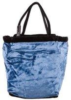 Salvatore Ferragamo Colorblock Velvet Handle Bag