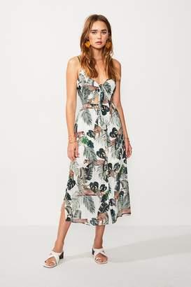 SUBOO Xenia Tie Front Midi Dress - Xenia Print