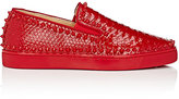 "Christian Louboutin Men's ""Pik Boat"" Python Slip-On Sneakers"