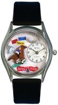 Whimsical Watches Women's S0810007 Horse Racing Black Leather Watch