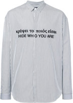 Juun.J striped embroidered shirt - men - Cotton - 48