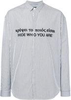 Juun.J striped embroidered shirt - men - Cotton - 50