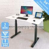 """Seville Classics OFFK65822 AIRLIFT Pro S3 54"""" Solid-Top Commercial-Grade Electric Adjustable Standing Desk (51.4"""" Max Height) Table"""