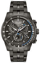 Citizen At4127-52h Chronograph Tachymeter Date Eco-drive Bracelet Strap Watch, Black