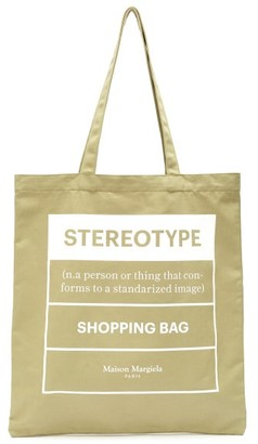 Maison Margiela Stereotype-print Cotton-canvas Tote Bag - Mens - Multi