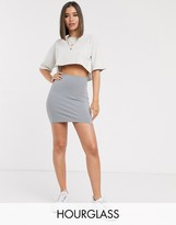 Hourglass ASOS DESIGN seamed super mini bodycon skirt
