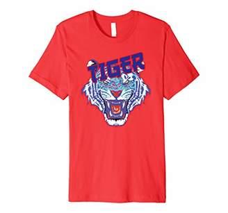 Tiger Face Claw Stripes Street Vintage Retro Fashion Beast Premium T-Shirt
