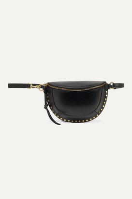 Isabel Marant Skano Studded Leather Belt Bag - Black