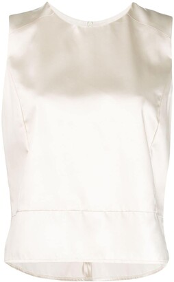 Sara Lanzi Sleeveless Fitted Top