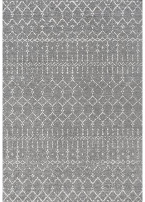Jonathan Y Designs Power Loom Gray/Ivory Rug Rug Size: Rectangle 5' x 8'
