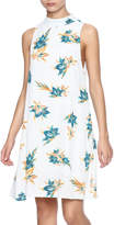 Honey Punch Floral High Neckline