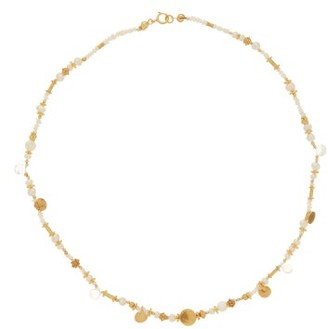 Katerina Makriyianni - Pearl & Labradorite Beaded Gold-vermeil Necklace - White Multi