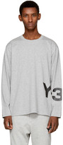 Y-3 Grey Long Sleeve Classic Logo T-shirt