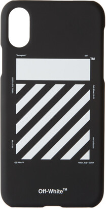 Off-White Black and White Diagonal iPhone X Case