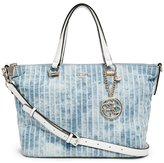 GUESS Korry Crush Denim Satchel