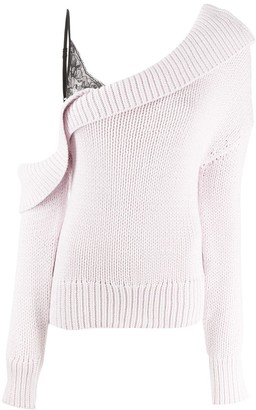 Hellessy One Shoulder Ribbed Knitted Jumper