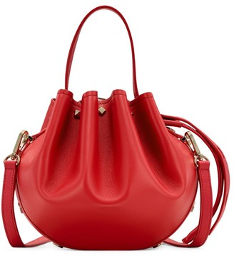 MCM Small Candy Drawstring Leather Bucket Bag