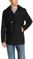 Nautica Men's Melton Double-Breasted Peacoat