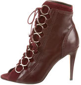 Brian Atwood Peep-Toe Ankle Boots w/ Tags