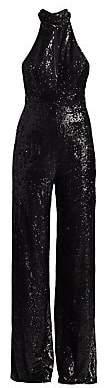 Cinq à Sept Women's Shelby Sequin Halter Jumpsuit - Size 0
