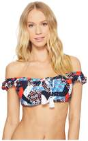 Tommy Hilfiger Wanderlust Patchwork Off the Shoulder Bikini Top Women's Swimwear