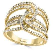 Effy Pavé Diamond & Yellow Gold Multi-Band Ring