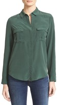 L'Agence Valerie Safari Pocket Silk Blouse