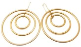 Faraone Mennella Farone Menella 18K Yellow Gold 3 Ring Orbital Hoop Earrings
