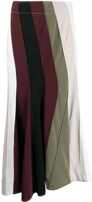 J.W.Anderson Striped Asymmetric Skirt