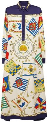 Etro Printed Cotton Twill Shirt Dress
