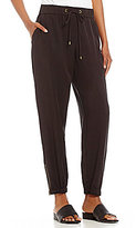 Eileen Fisher Drawstring Tapered Ankle Pants