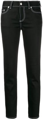 Alexander McQueen Contrast Stitch Straight-Leg Jeans